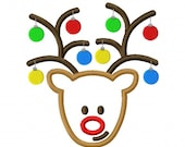 Digitizing Dolls Christmas Rudolph Reindeer Ornament Antlers Machine Embroidery Applique Design 4x4 5x7 6x10 INSTANT DOWNLOAD