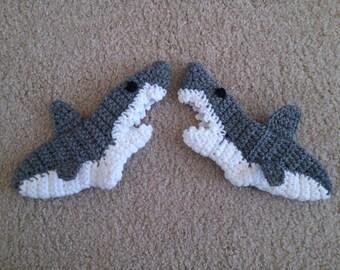 Crochet Baby Shark Booties Pattern Free : Popular items for shark sock on Etsy