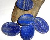 Blue Lapis Lazuli Worrystone Worry Stone Gemstone Palmstone  Reiki