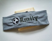 Soccer Stretch Headband PERSONALIZED and FULLY CUSTOMIZABLE with your name and colors and many sports available