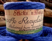 RECYCLED YARN - Blue Bonnets - 100% cotton - worsted weight