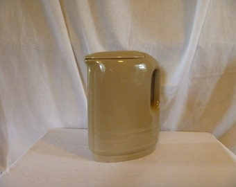 1950s Westinghouse by Hall China PItcher with Lid- Tan
