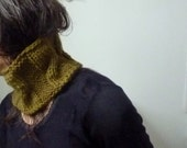 Unisex Lovey Cowl, hand knitted sculpted warmth, choose your color