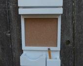 Mail Organizer/Message Center/Cork board Center/Kitchen Decor/ Mud Room Decor