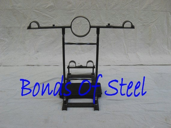 Kneeling Stock Steel BDSM Bondage Bonds of Steel Mature