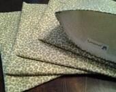 Sandwich Bag, Reusable Bag, Mama Cloth Wet Bag, Travel Bag, Leopard Print