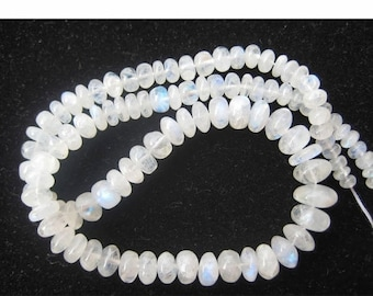 Rainbow Moonstone Rondelle, White Rainbow Beads, 4mm To 10mm Beads, Rondelle Beads, 8 Inch Half Strand, 40 Pieces Approx