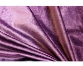 RESERVED for ALYSSA - 2 Yards Purple Cotton Velvet
