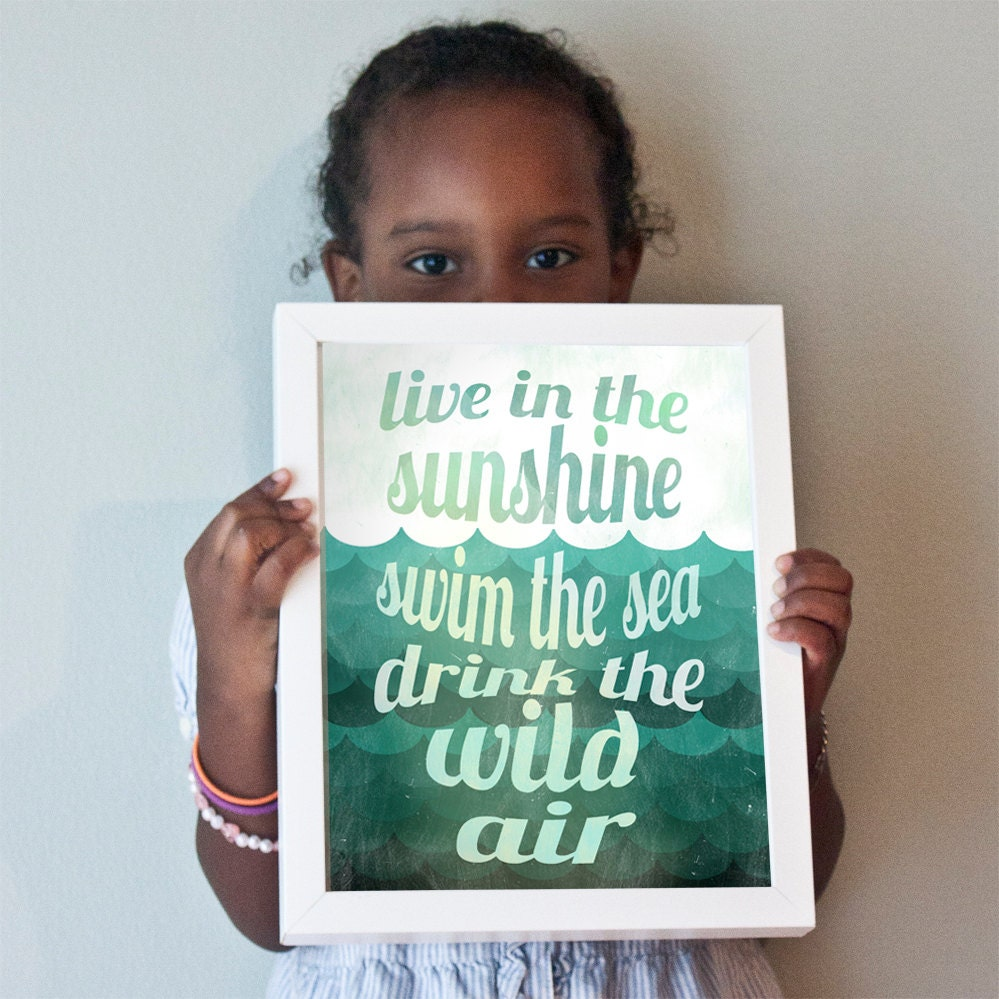 Printable 11x14 Live in the Sunshine