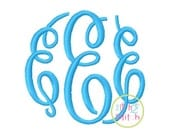 Fancy Circle SMALL Machine Embroidery Monogram Font (Larger sizes sold separately)