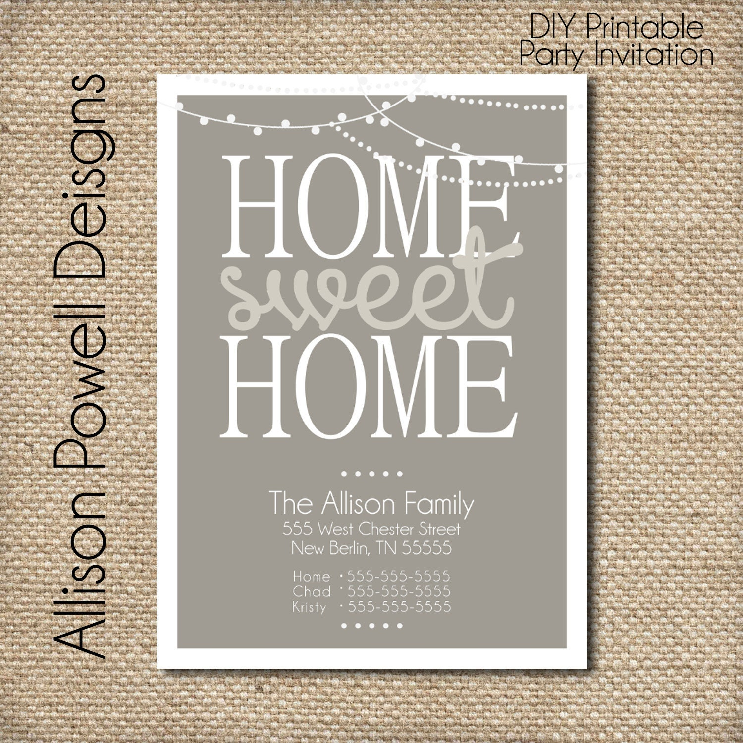 moving card change of address card new home printable