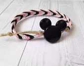 Macrame Hemp Friendship Bracelet, Disney Inspired Colors, Minnie Mouse LIMITED EDITION