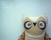 Camilla Owl , soft art creature, toy  by  Wassupbrothers.