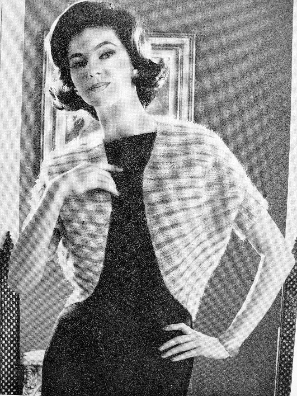 INSTANT PDF PATTERN 1960s Vintage Knitting Pattern Elegant