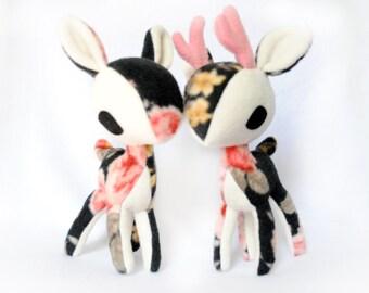 Antique Rose Deer Plush