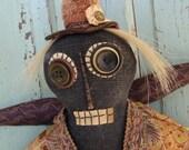 Folk Art Doll, Cloth Doll, Angel Doll, Primitive Doll, Whimsical ooak Doll - Miss Harriet Wilder