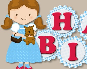 Little Girl Wizard of Oz Birthday Party Decoration or Birthday Party BANNER