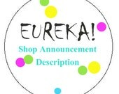 Shop Announcement Description with SEO rich text for Better Search Results on Etsy and Search Engines