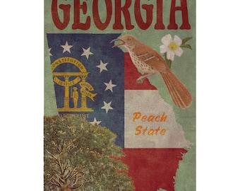 GEORGIA 1FS- Handmade Leather Photo Album - Travel Art