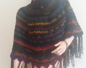 Crochet  cozy  poncho