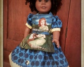 American Girl retro-style Dress and Apron made with licensed Nancy Drew fabrics
