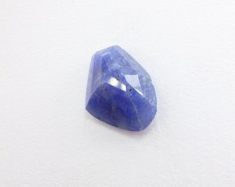 SAPPHIRE. 100% Natural. Blue Unheated / Untreated. Tavernier Rose Cut. Freeform. Geometric. 1 pc. 5.33 cts. 9.5x13x5.5 mm (S1532)
