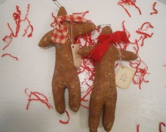 Christmas, Ornament, Primitive Ginger Man