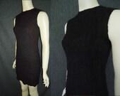 Little Black Bombshell Vintage 1950's WIGGLE Hourglass Dress XS S