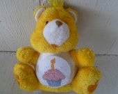 "1984 Care Bear ""Birthday Bear"" Bank Miniature Plush"