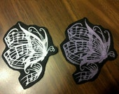 Butterfly Patch,music notes,