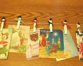 Snowman clothespins--card holders or  dex,  6
