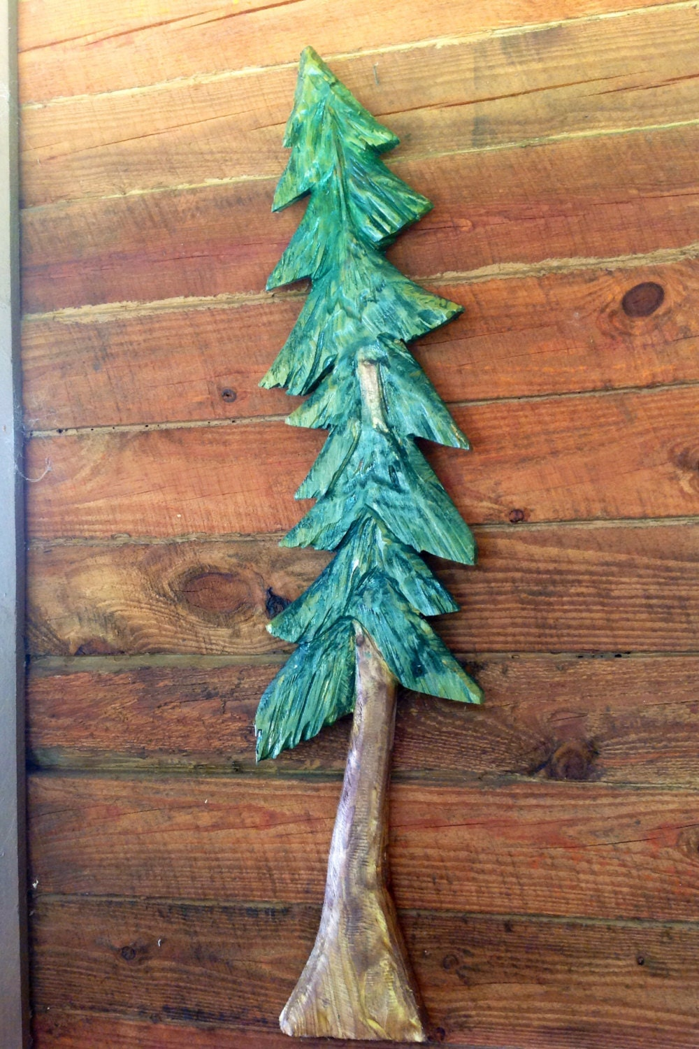 Pine Tree Sculpture 4ft Chainsaw Tree Carving By Oceanarts10
