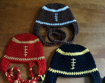 Football hat (sizes infant through adult)