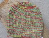 Definitely A Guy Hat - Hand Knit - Ribbed - Techno Geek Camouflage - Toboggan for Men & Teen Boys - Warm Unisex Winter Watch Cap - Beanie
