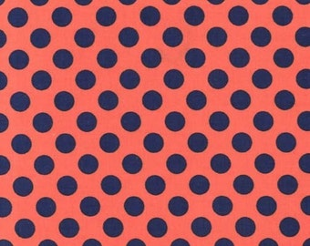 Michael Miller, Fabric by the Yard, Dot Fabric, Ta Dot in Popp, One Yard