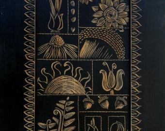 Botanical Sampler on Black
