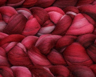 NEW Product Malabringo Nube Roving Cereza 19 Micron Merino 4 Ounces