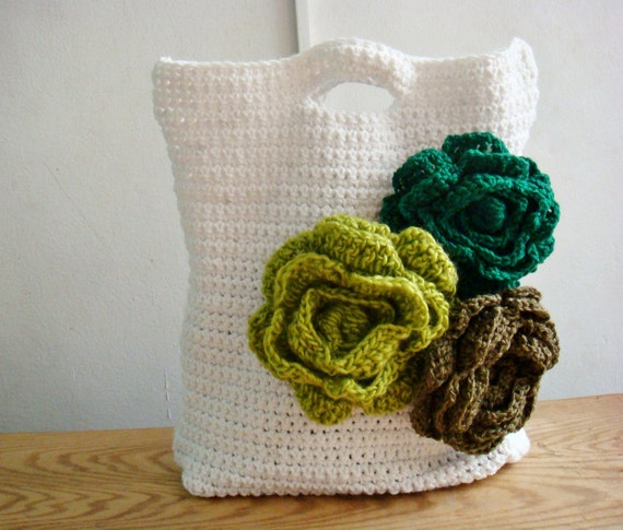 Items similar to Crochet PATTERN Storage Bag, Crochet Tote ...