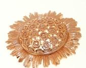 CLEARANCE SALE Vintage Flower Brooch Monet 1960s Mod Mad Men