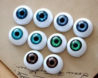 6Pcs 16mm  Eye ball Cabochon -(CAB-CX-B16)