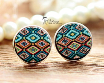 20% off -Unique 3D Embossed   16mm Round Handmade Wood Cut Cabochon to make Rings, Earrings, Bobby pin,Necklaces, Bracelets-(WG-27)