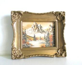 Small Vintage Landscape Framed Art