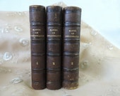 French Antique Books from the 1800's Biliographie Universelle Set Of 3 1857 Beautiful Leather Binding