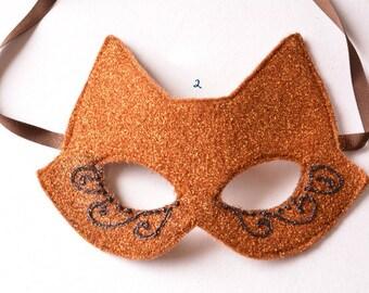 MASK- Fox Face - Halloween, Fairy, Mardi Gras, Venetian, masquerade