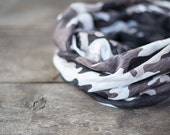 Versatile Scarf Cowl Loop Infinity Circle Camouflage Military Camo Minimalist Rustic Brown Safari Unisex Men Women