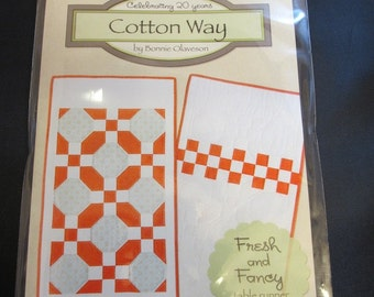 Cotton Way Fresh and Fancy January Table Runner Pattern