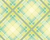 Summer Plaid Turquoise  (PWHB049) - Heather Bailey UP PARASOL - Free Spirit Fabric  - By the Yard