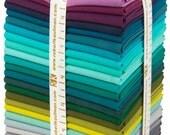 Fat Quarter Bundle - Kona Cotton Solid, Patchwork City Winter Palette - FQ bundle, 25 pieces - Robert Kaufman