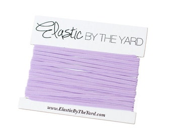 LILAC Skinny Elastic for Baby Headbands 1/8 inch - 5 yards