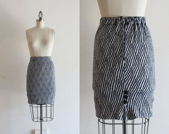 1950s Pencil Skirt / Pinup Clothing Bodycon Skirt / Black and White Pin Up Skirt